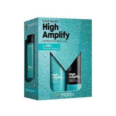 Набор Matrix Total Results High Amplify для экстраобъема (Шампунь 300 мл + Кондиционер 300 мл), с протеином, без силиконов, питание, укрепление, для тонких волос