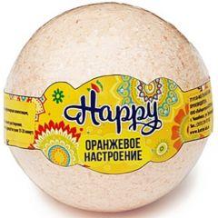 """Бурлящий шар Happy  """"Оранжевое настроение"""" 130г"""