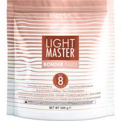 Осветляющий порошок Light Master с бондером 500 гр Matrix, Лайт Мастер Матрикс, осветление волос до 8 уровней тона, защита волос от повреждений