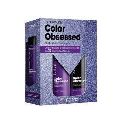 Набор Matrix Total Results Color Obsessed для защиты цвета окрашенных волос (Шампунь 300 мл + Кондиционер 300 мл),  с антиоксидантами, сохраняет яркость цвета