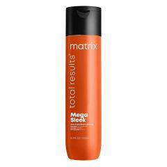 Шампунь Total Results Mega Sleek для гладкости волос 300 мл, Matrix,с маслом ши, устраняет пушистость, для непослушных волос