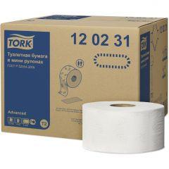 -00 Тork Advanced т/бумага в мини рулонах, 2 сл.,170м*9,5см,белая,1214л
