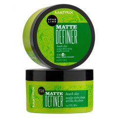 StyleLink Matte Definer 98 г, Matrix, сильная фиксация, матовая глина для текстурирования, создаёт форму, для всех типов волос