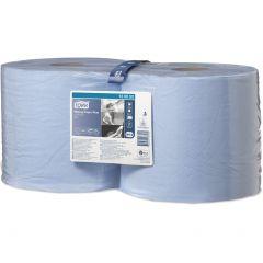 РаспродажаПлюс протир.бумага со съем. втулкой,750 л/рул., 2сл,255м*24см, голубой W1/W2